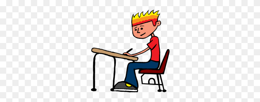 260x272 Sit Still Clipart - Kid Studying Clipart