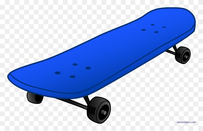 Skateboard Blue Clip Art - Skateboard Clipart