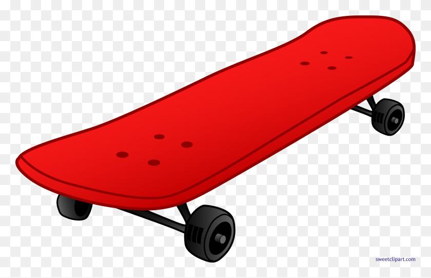 Skateboard Red Clip Art - Skateboard Clipart
