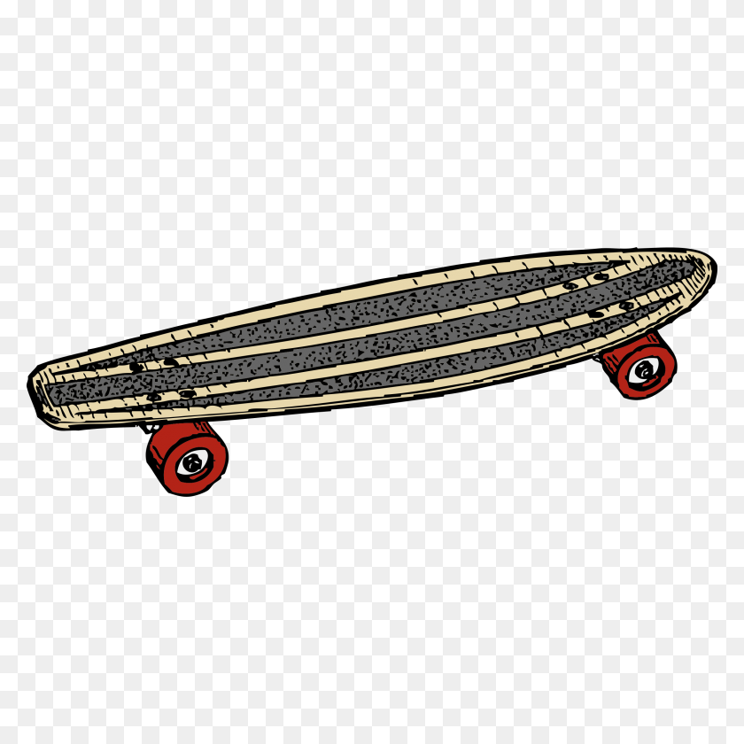 2400x2400 Skateboards Cliparts - Longboard Clipart
