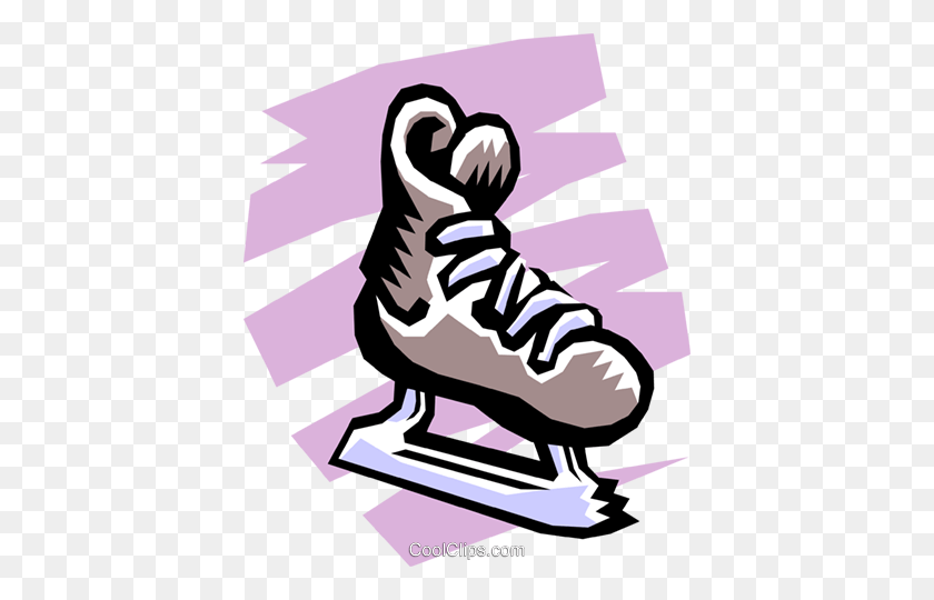Shoes For Figure Skating. Black White Illustration Of Ice Skates... Royalty  Free Cliparts, Vectors, And Stock Illustration. Image 129543132.