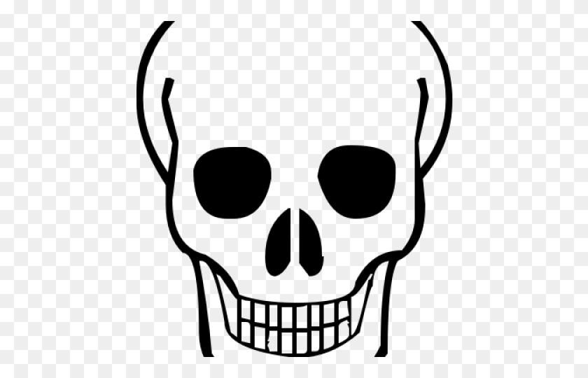 Skeleton Head Clipart Pretty - Skeleton Arm Clipart