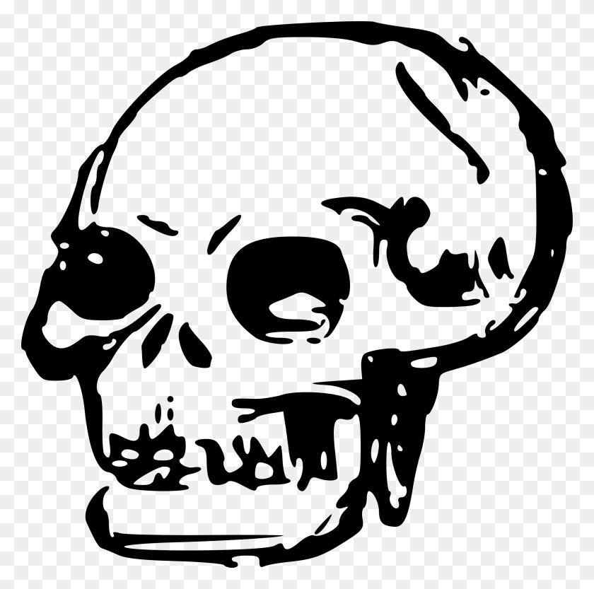 Skeleton Head Clipart Transparent - Skeleton Head Clipart