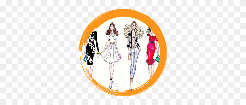 Sketch Clipart Fashion Design - Fashion Girl Clipart