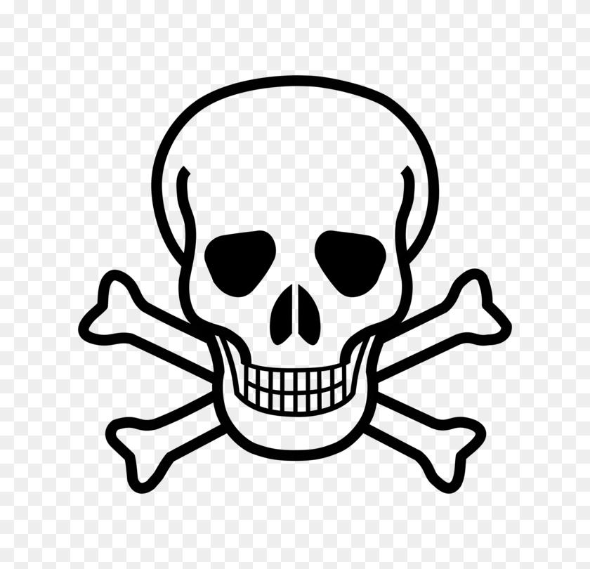 Skull And Bones Skull And Crossbones Human Skull Symbolism Drawing - Bone Clipart Black And White