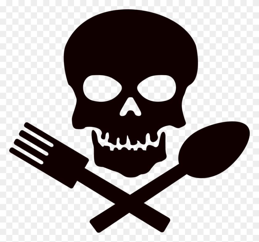 Skull And Crossbones Human Skull Symbolism Skeleton Free - Skeleton Black And White Clipart