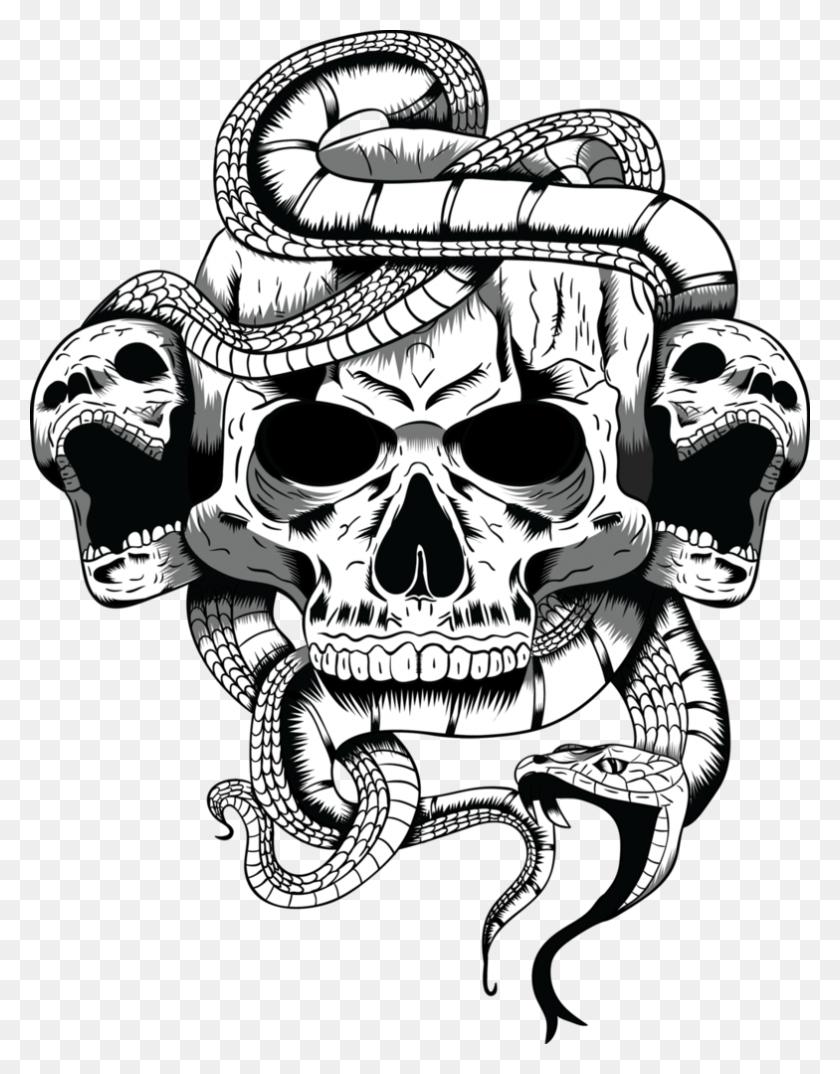 Skull Illustrations Desktop Backgrounds - Skeleton Clipart Black And White