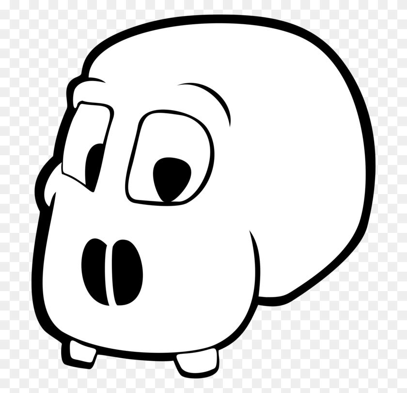 Skull Skeleton Cartoon Bone Head - Skeleton Head Clipart