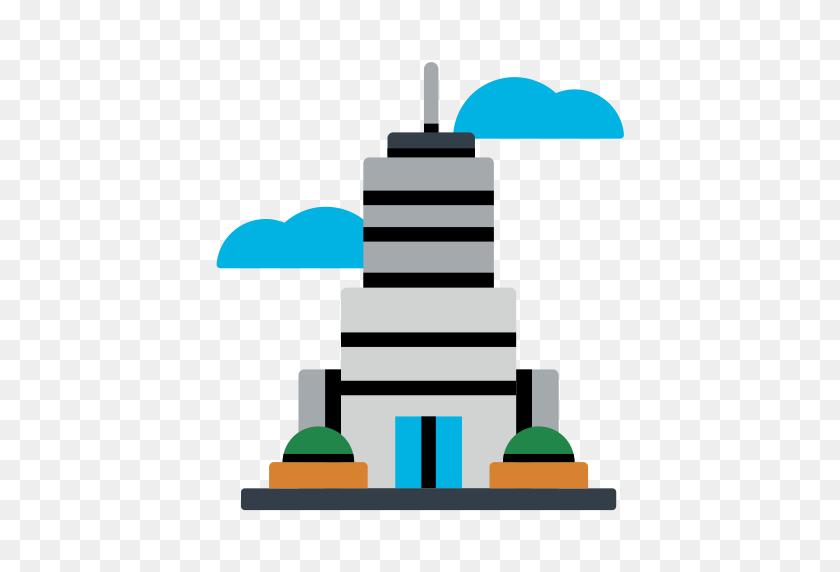 Skyscraper, Simple, Multicolor Icon With Png And Vector Format - Skyscraper Clipart