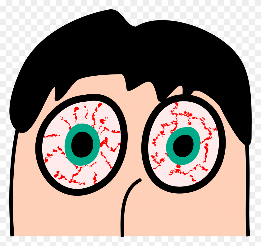 Sleepless Eyeballs Vector Clipart Image - Eyeballs PNG