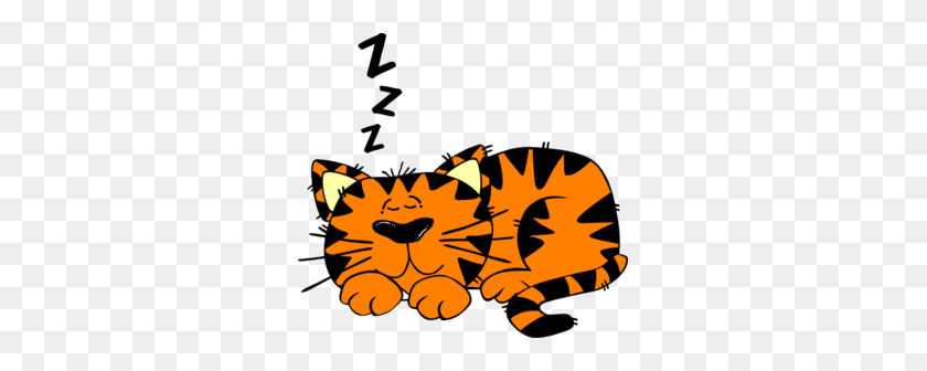 Sleepy Cat Clipart - Calico Cat Clipart