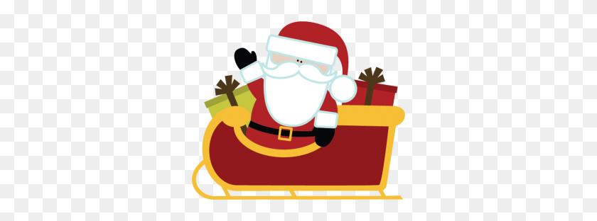 Sleigh Clipart Free Clipart - Santa And Sleigh Clipart