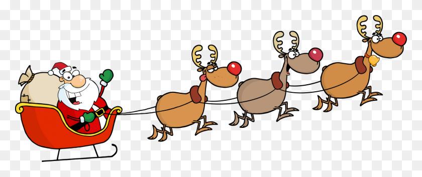 Sleigh Clipart Santa's Slay - Sleigh Ride Clipart