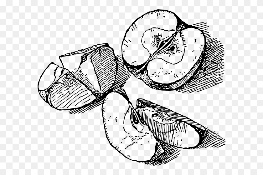 Sliced Apple Clip Art - Sliced Apple Clipart