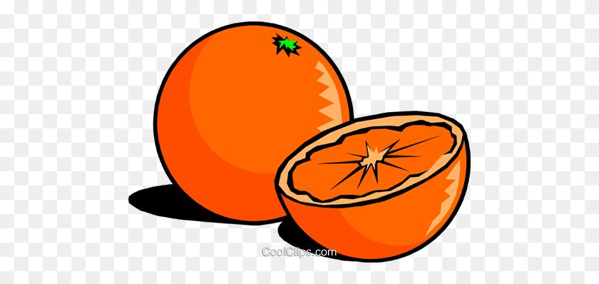 Sliced Oranges Royalty Free Vector Clip Art Illustration - Oranges PNG