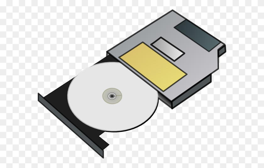 Slim Cd Drive Clip Art - Cd Player Clipart