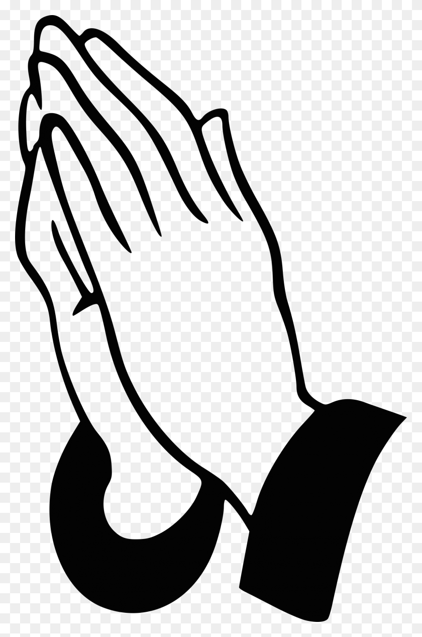 Small Clipart Praying Hand - Hand In Hand Clipart