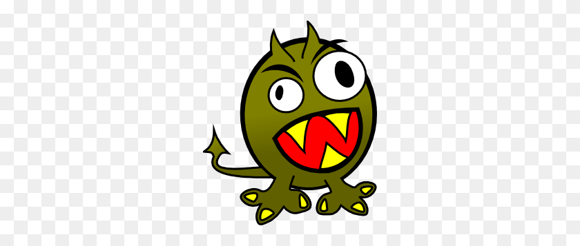 252x297 Small Funny Angry Monster Clip Art - Monsters Clipart Free
