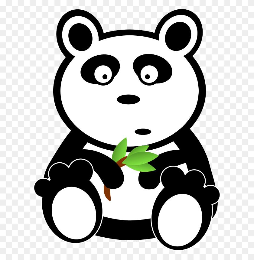 Smart Bear Cliparts - Panda Bear Clipart