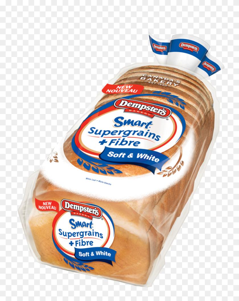 Smart Supergrains + Fibre White Loaf Dempster - Loaf Of Bread PNG