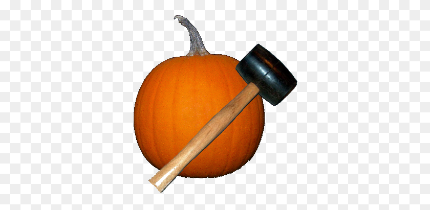 Smashing Pumpkins Pumpkin And Mallet - Pumkin PNG