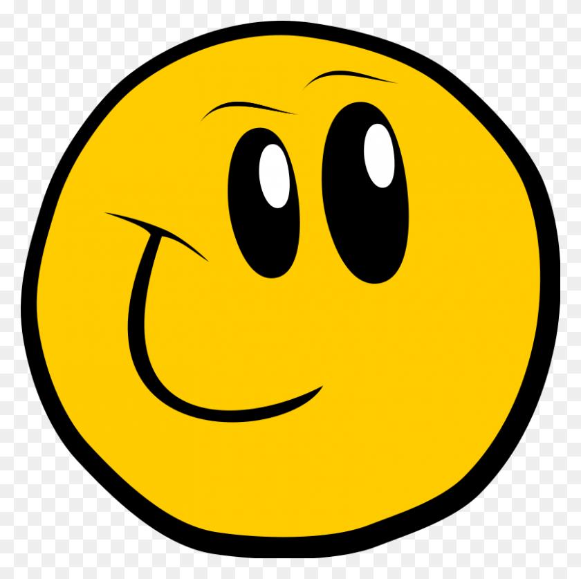 800x797 Smiley Cartoon Emoticon Clip Art - Free Emoticons Clipart
