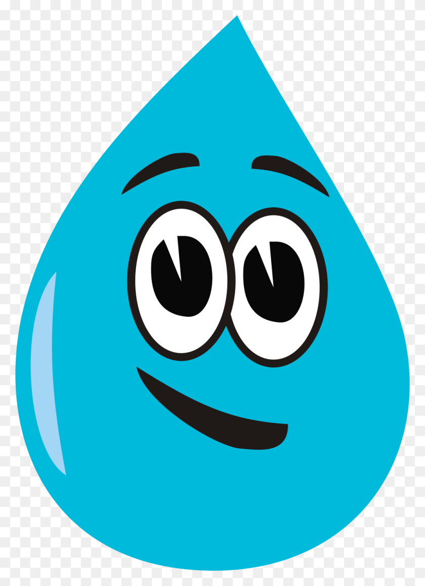 Smiley Clipart Water Drop - Wave Goodbye Clipart