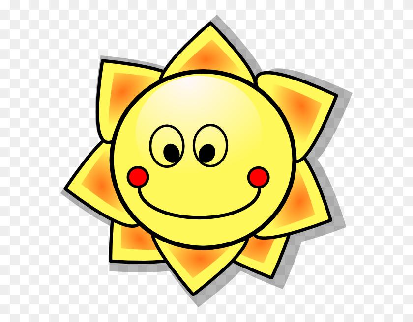Smiling Cartoon Sun Clip Art Free Vector - Smiling Sun Clipart