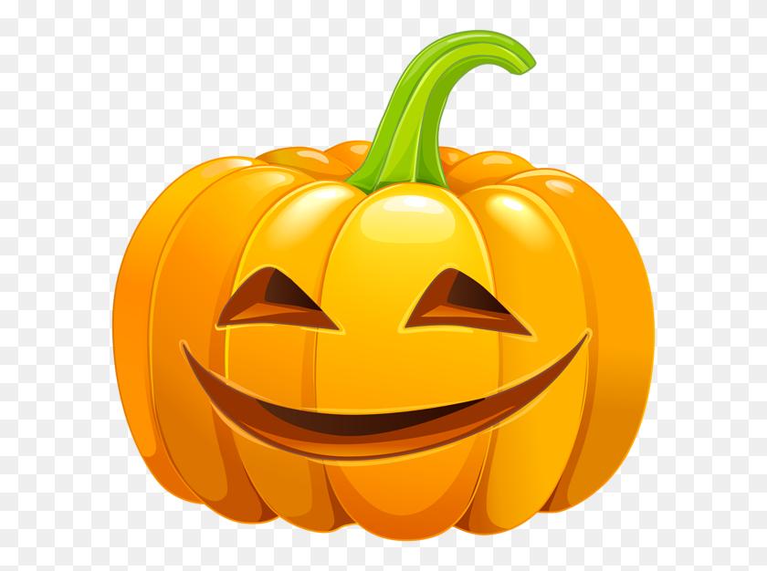 Smiling Carved Pumpkin Png Clip Art - Pumpkin Carving Clipart
