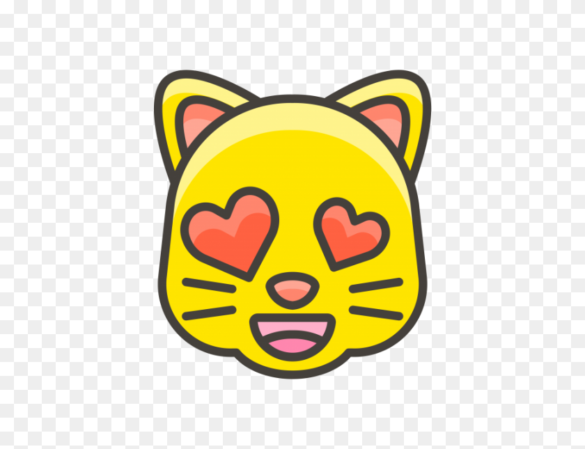 Smiling Cat Face With Heart Eyes Emoji Png Transparent Emoji - Eyes