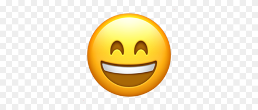 Smiling Face With Open Mouth And Smiling Eyes Emojis - Happy Face Emoji PNG