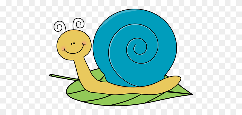Snail On A Leaf Insects Dragonfly Lady Bugs Snails Spiders - Slow Down Clipart