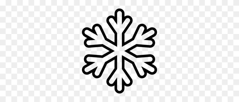 Snow Flake Clip Art - Snow Clipart Black And White