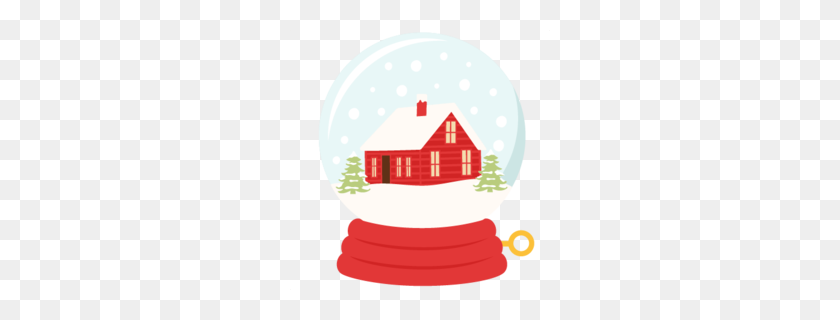 Snow Globes Clipart - Snow Covered Trees Clipart
