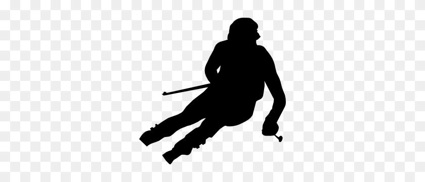 Snow Skier Skiing Sticker - Snow Skiing Clip Art