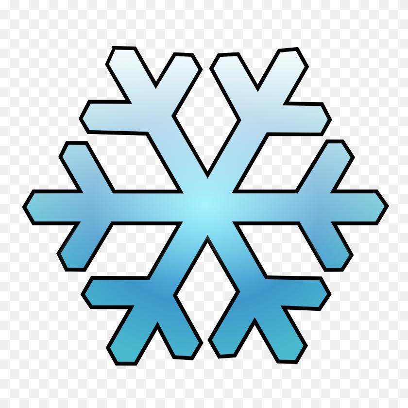 2400x2400 Snowflake - Snowflakes Falling Clipart