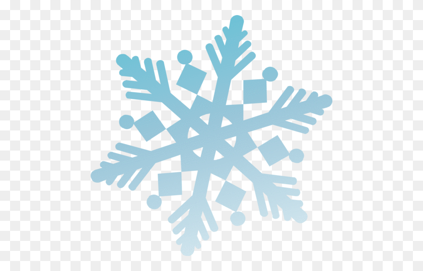 Snowflake Clings - Snowflake Border PNG
