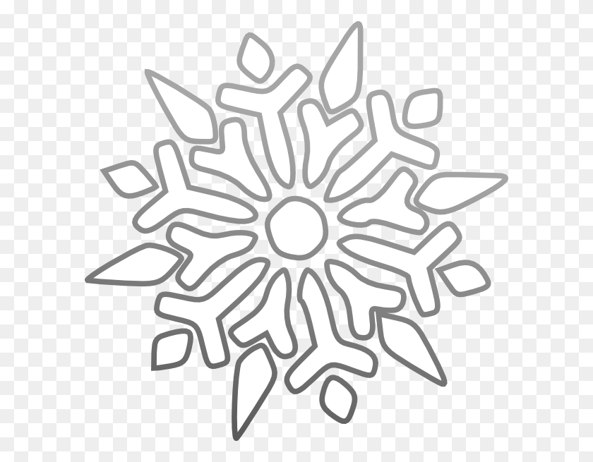Snowflake Clip Art - Snowflake Clipart Transparent