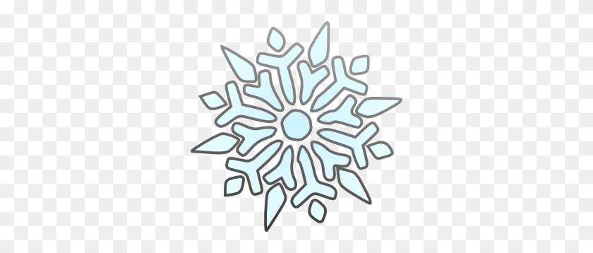 300x298 Snowflake Clip Art Clear Background - Moon Clipart Transparent