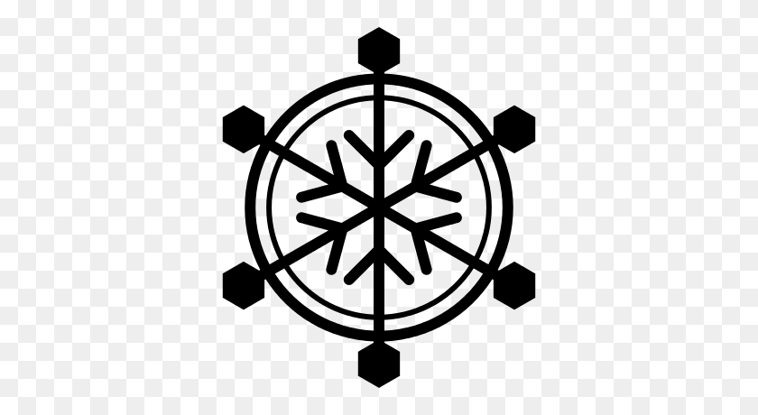 Snowflake With Round Border Free Vectors, Logos, Icons - Snowflake Border PNG
