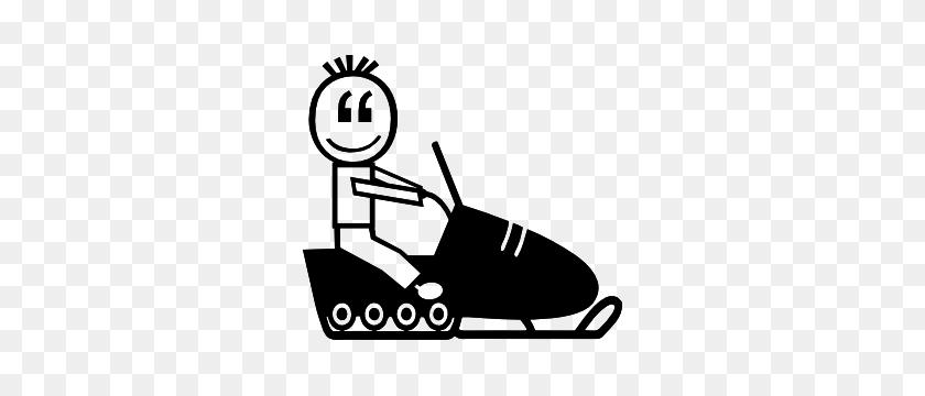 Snowmobile Small Boy Family Sticker - Snowmobile Clipart