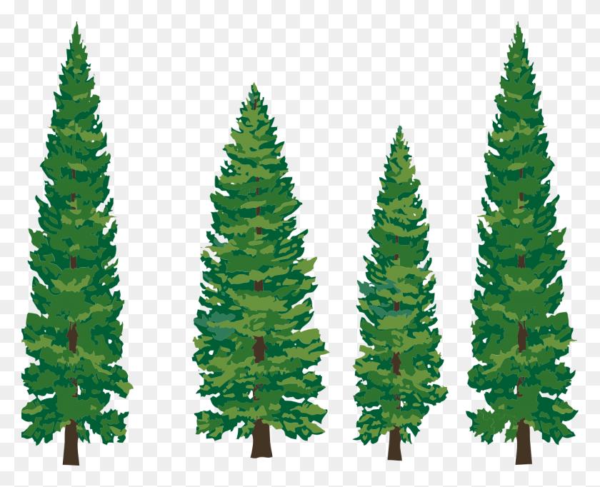 Snowy Pine Trees Clip Art - Snowy Clipart