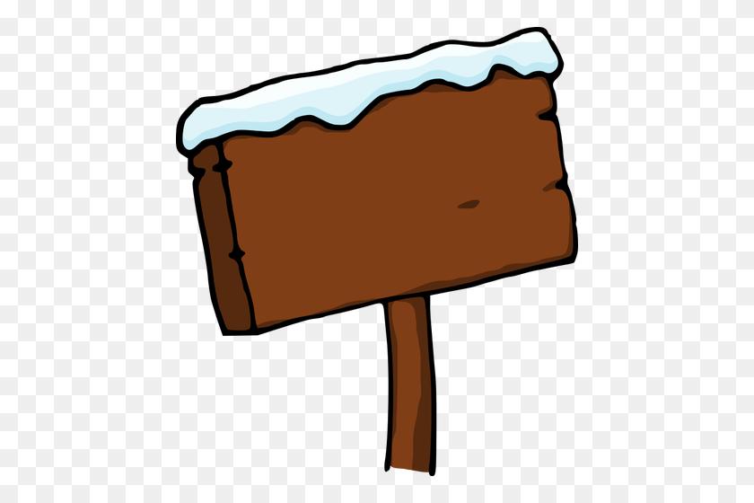 Snowy Signboard - Snow Scene Clipart