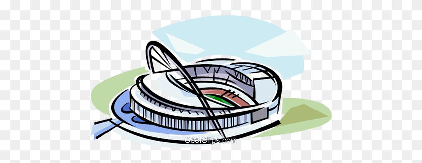 Soccer Stadiums Royalty Free Vector Clip Art Illustration - Soccer Field Clipart