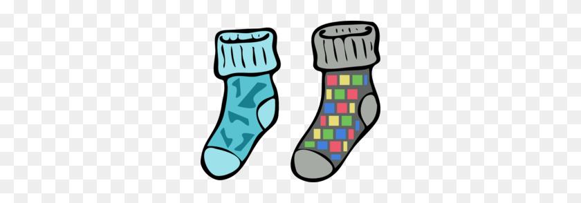 260x234 Sock Clipart - Mismatched Clothes Clipart