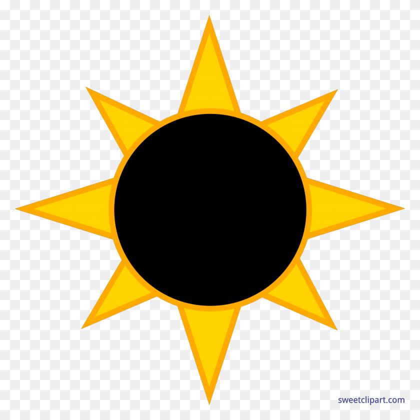 Solar Eclipse Sun Clip Art - Yellow Sun Clipart