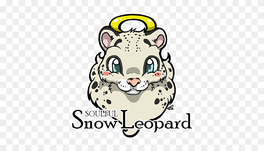 Soulful Snow Leopard Dark Bunny Sauces - Snow Leopard Clipart