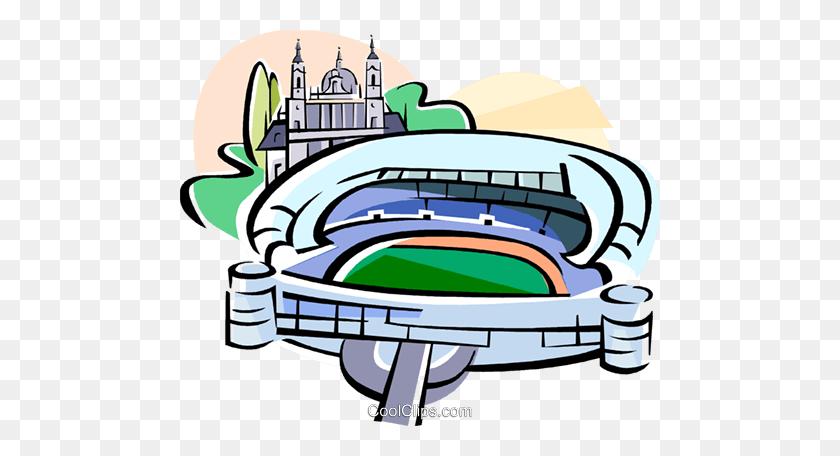 Spain Bernabeu Stadium Madrid Royalty Free Vector Clip Art - Stadium Clipart