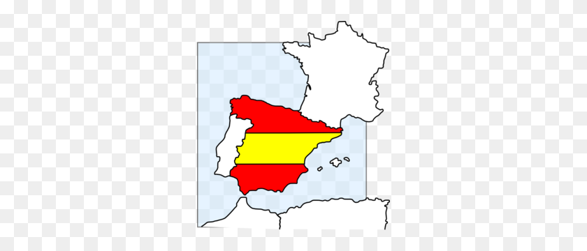 Spain Map And Flag Clip Art - Polish Flag Clipart