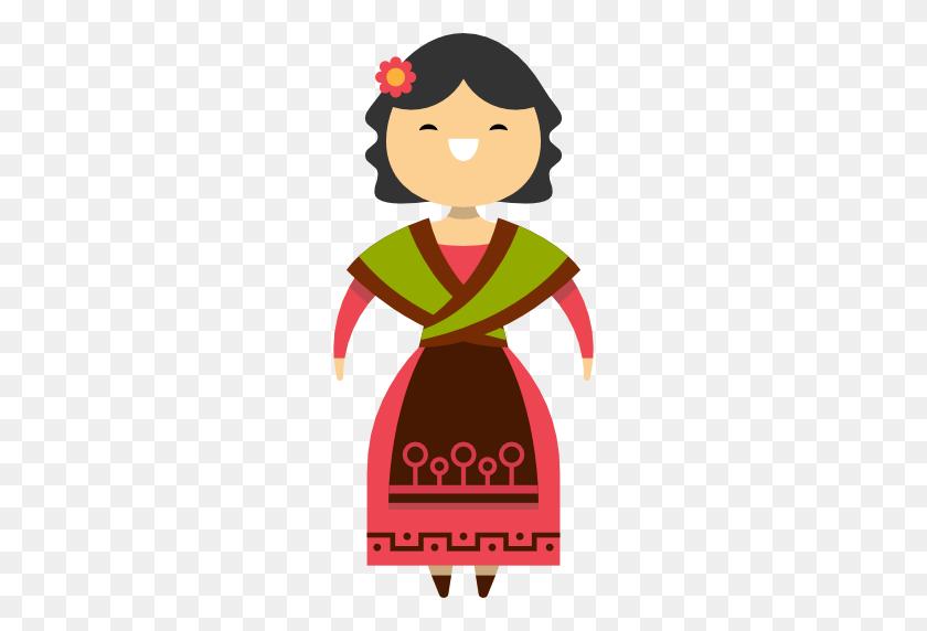 Spanish Clipart Spanish Woman - Spanish Flag Clipart